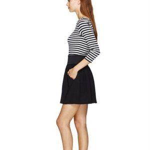 ARITZIA WILFRED 100% Silk Black Zip Tulip Skirt
